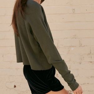 NWT Brandy Melville dark green thermal Laila top